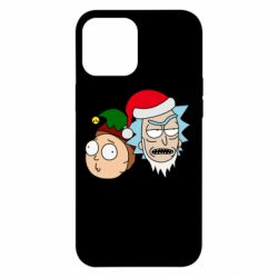 Чехол для iPhone 12 Pro Max New Year's Rick and Morty