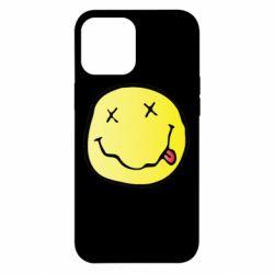 Чохол для iPhone 12 Pro Max Nirvana Logo 3D