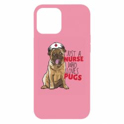 Чехол для iPhone 12 Pro Max Nurse loves pugs