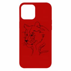 Чехол для iPhone 12 Pro Max Outline drawing of a lion