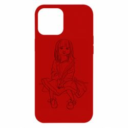 Чехол для iPhone 12 Pro Max Outline drawing of a little girl