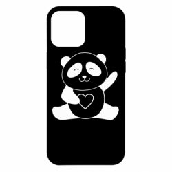 Чохол для iPhone 12 Pro Max Panda and heart