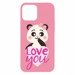 Чехол для iPhone 12 Pro Max Panda and love