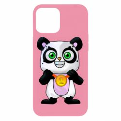 Чохол для iPhone 12 Pro Max Panda with a medal on his chest