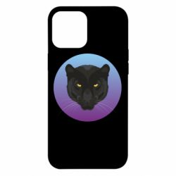 Чохол для iPhone 12 Pro Max Panther on gradient background