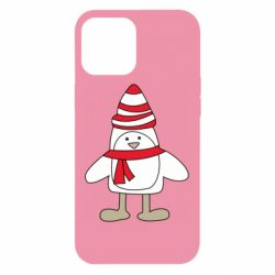 Чехол для iPhone 12 Pro Max Penguin in the hat and scarf