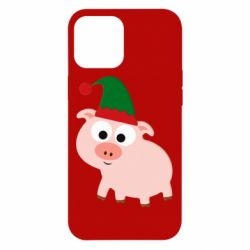 Чохол для iPhone 12 Pro Max Pig in a New Year's cap