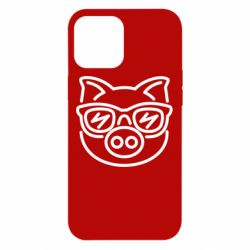 Чехол для iPhone 12 Pro Max Pig in the glasses