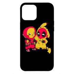 Чехол для iPhone 12 Pro Max Pikachu and deadpool