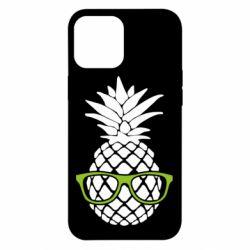 Чехол для iPhone 12 Pro Max Pineapple with glasses