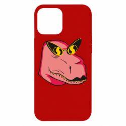 Чохол для iPhone 12 Pro Max Pink dinosaur with glasses head