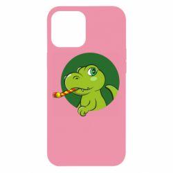 Чохол для iPhone 12 Pro Max Святковий динозавр