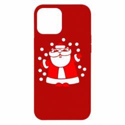 Чохол для iPhone 12 Pro Max Прикольний дід мороз
