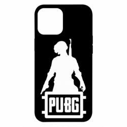 Чехол для iPhone 12 Pro Max PUBG logo and hero