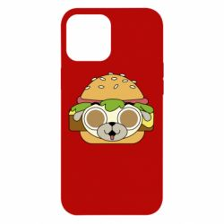 Чохол для iPhone 12 Pro Max Pug Hamburger