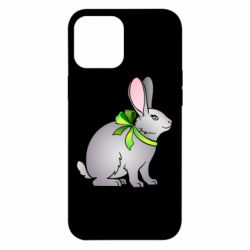 Чехол для iPhone 12 Pro Max Rabbit with a green bow