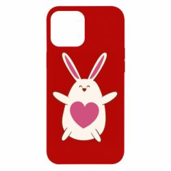 Чехол для iPhone 12 Pro Max Rabbit with a pink heart