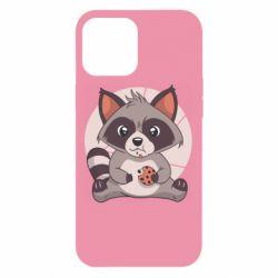 Чохол для iPhone 12 Pro Max Raccoon with cookies