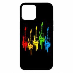 Чехол для iPhone 12 Pro Max Разноцветные гитары