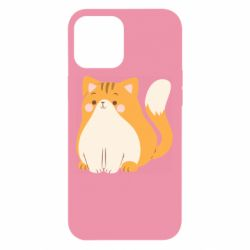 Чехол для iPhone 12 Pro Max Red cat with stripes