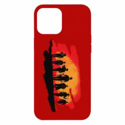 Чохол для iPhone 12 Pro Max Red Dead Redemption 2 Cowboys Silhouette