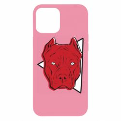 Чехол для iPhone 12 Pro Max Red pit bull