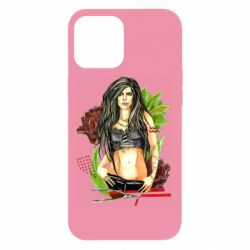Чехол для iPhone 12 Pro Max Rock girl with a rose