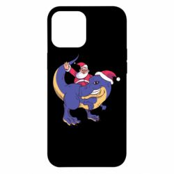Чехол для iPhone 12 Pro Max Santa and T-Rex