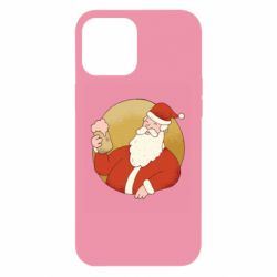 Чехол для iPhone 12 Pro Max Santa with a beer glass
