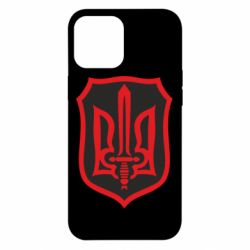 Чехол для iPhone 12 Pro Max Shield with the emblem of Ukraine and the sword