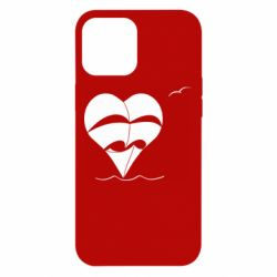 Чехол для iPhone 12 Pro Max Ship and heart