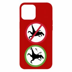 Чохол для iPhone 12 Pro Max Sign with a dinosaur with a gun and flowers