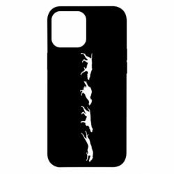 Чехол для iPhone 12 Pro Max Silhouette of hunting dogs