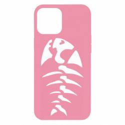 Чехол для iPhone 12 Pro Max скелет рыбки
