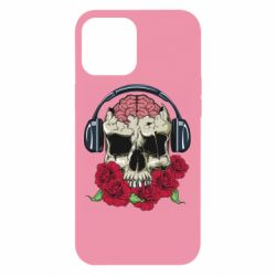 Чохол для iPhone 12 Pro Max Skull and roses