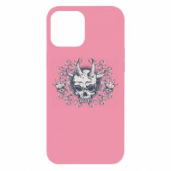 Чохол для iPhone 12 Pro Max Skull with horns and patterns