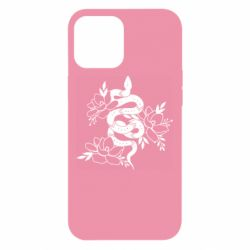 Чохол для iPhone 12 Pro Max Snake with flowers
