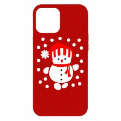 Чехол для iPhone 12 Pro Max Снеговик в шапке
