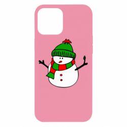 Чехол для iPhone 12 Pro Max Снеговик