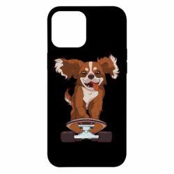 Чехол для iPhone 12 Pro Max Собака Кавалер на Скейте