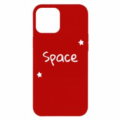 Чохол для iPhone 12 Pro Max Space: Letters and Stars Print