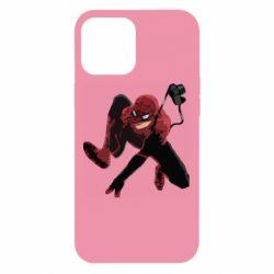 Чехол для iPhone 12 Pro Max Spiderman flat vector