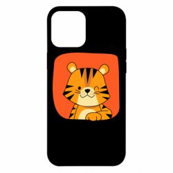 Чехол для iPhone 12 Pro Max Striped tiger with smile