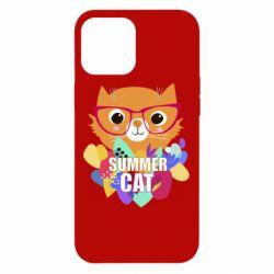 Чехол для iPhone 12 Pro Max Summer cat