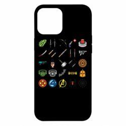 Чохол для iPhone 12 Pro Max Superhero Icon Set