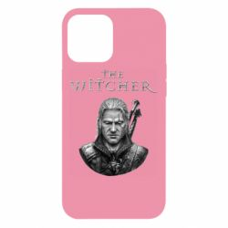 Чехол для iPhone 12 Pro Max The witcher art black and gray
