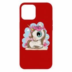 Чохол для iPhone 12 Pro Max Unicorn with flowers