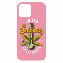 Чохол для iPhone 12 Pro Max United smokers st relax California