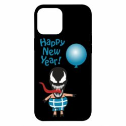 Чохол для iPhone 12 Pro Max Venom pig with a ball wishes a happy new year