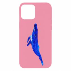 Чохол для iPhone 12 Pro Max Watercolor blue whale